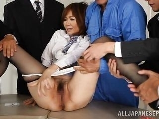 asian mature gets it anal