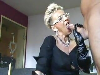 sachsen lady in black fucks